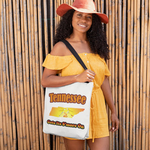 Tennessee Gets Its S'more On! Novelty Funny Tote Bag Reusable - CampWildRide.com
