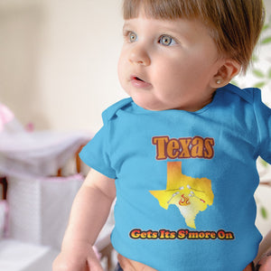 Texas Gets Its S'more On! Novelty Infant One-Piece Baby Bodysuit - CampWildRide.com