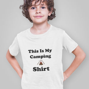 This IS My Camping Shirt! Novelty Short Sleeve Youth T-Shirt