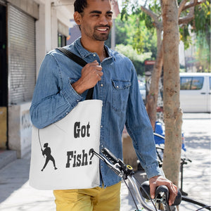 Got Fish? Work that Rod! Novelty Funny Tote Bag Reusable