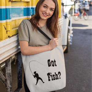 Got Fish? Work that Rod! Novelty Funny Tote Bag Reusable - CampWildRide.com