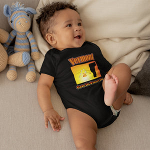 Vermont Gets Its S'more On! Novelty Infant One-Piece Baby Bodysuit - CampWildRide.com