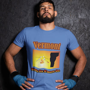 Vermont Gets Its S'more On! Novelty Short Sleeve T-Shirt - CampWildRide.com