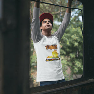 Virginia Gets Its S'more On! Novelty Baseball Tee (3/4 sleeves)