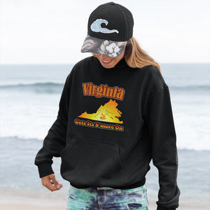Virginia Gets Its S'more On! Novelty Hoodies (No-Zip/Pullover) - CampWildRide.com