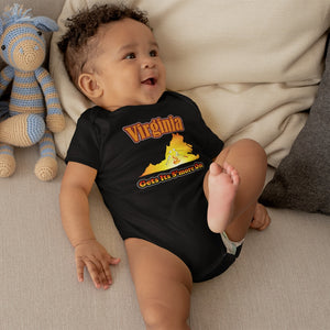 Virginia Gets Its S'more On! Novelty Infant One-Piece Baby Bodysuit