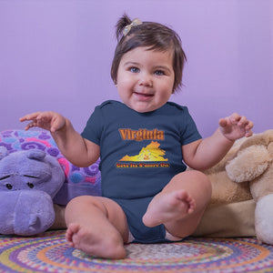 Virginia Gets Its S'more On! Novelty Infant One-Piece Baby Bodysuit - CampWildRide.com