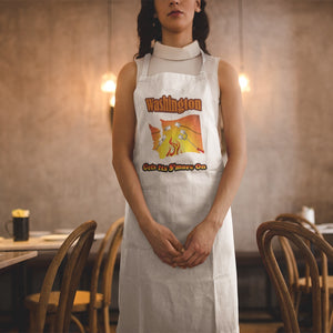 Washington Gets Its S'more On! Novelty Funny Apron