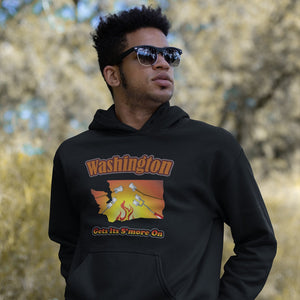 Washington Gets Its S'more On! Novelty Hoodies (No-Zip/Pullover)