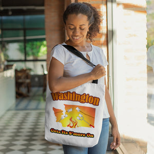 Washington Gets Its S'more On! Novelty Funny Tote Bag Reusable
