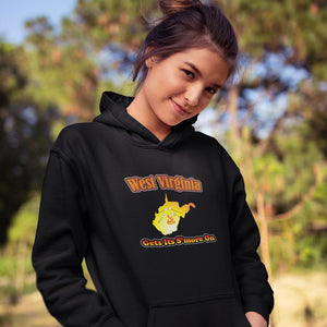 West Virginia Gets Its S'more On! Novelty Hoodies (No-Zip/Pullover) - CampWildRide.com