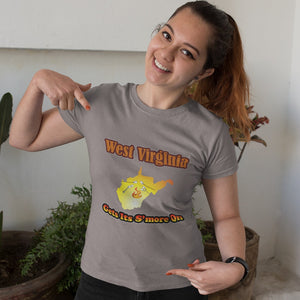 West Virginia Gets Its S'more On! Novelty Short Sleeve T-Shirt