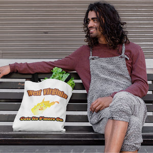 West Virginia Gets Its S'more On! Novelty Funny Tote Bag Reusable