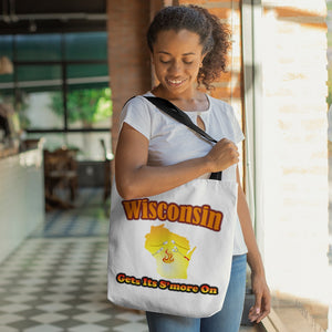 Wisconsin Gets Its S'more On! Novelty Funny Tote Bag Reusable - CampWildRide.com