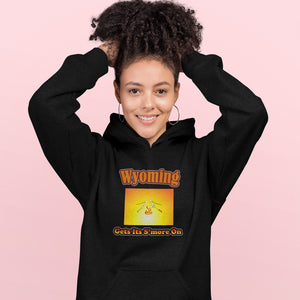 Wyoming Gets Its S'more On! Novelty Hoodies (No-Zip/Pullover) - CampWildRide.com