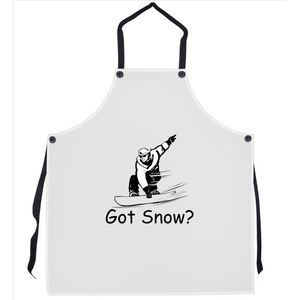 Got Snow? Shreddin with a Snowboard! Novelty Funny Apron - CampWildRide.com
