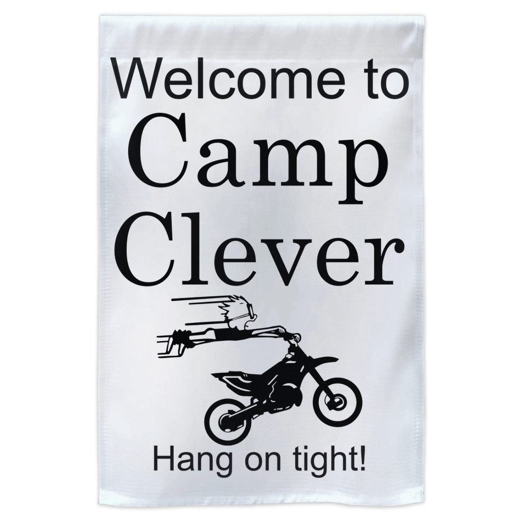 Camp Clever Yard Flag! Novelty Funny Yard Sign