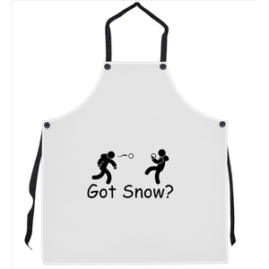 Got Snow? Snowball Fight! Novelty Funny Apron - CampWildRide.com