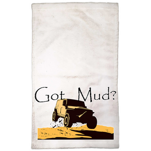 Got Mud? Fun with your 4WD! Novelty Funny Hand Towel - CampWildRide.com
