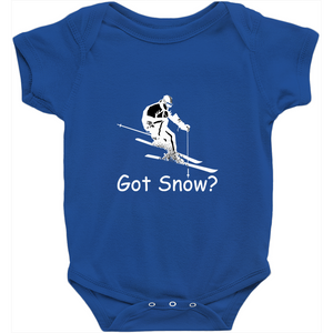 Got Snow? Downhill Skiing! Novelty Infant One-Piece Baby Bodysuit