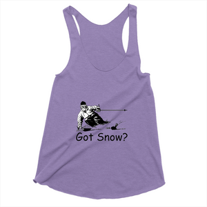 Got Snow? Tearing up the Powder! Novelty Women's Tank Top T-Shirt - CampWildRide.com
