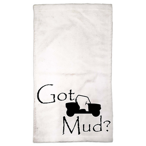 Got Mud? Fun on a Side-by-Side! Novelty Funny Hand Towel - CampWildRide.com
