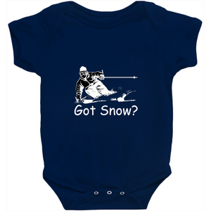 Got Snow? Tearing up the Powder! Novelty Infant One-Piece Baby Bodysuit - CampWildRide.com