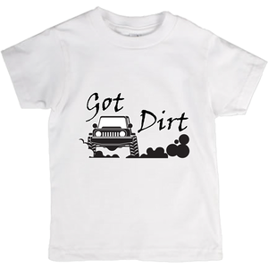 Got Dirt? Fun with your 4x4! Novelty Short Sleeve Youth T-Shirt - CampWildRide.com