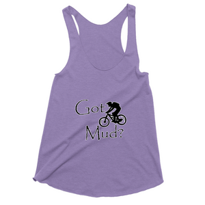 Got Mud? Fun on a Mountain Bike! Novelty Women's Tank Top T-Shirt - CampWildRide.com