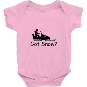 Got Snow? Fun on a Snowmobile! Novelty Infant One-Piece Baby Bodysuit - CampWildRide.com