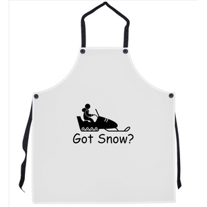 Got Snow? Fun on a Snowmobile! Novelty Funny Apron - CampWildRide.com