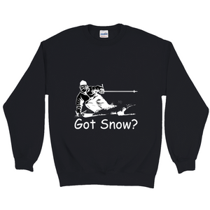 Got Snow? Tearing up the Powder! Novelty Sweatshirts Crewneck Pullover - CampWildRide.com