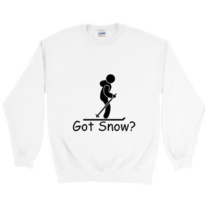 Got Snow? Having Fun on the Slopes! Novelty Sweatshirts Crewneck Pullover - CampWildRide.com