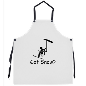 Got Snow? View from the Chair Lift! Novelty Funny Apron - CampWildRide.com