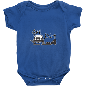 Got Dirt? Fun with your 4x4! Novelty Infant One-Piece Baby Bodysuit - CampWildRide.com