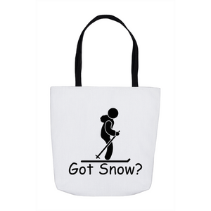 Got Snow? Having Fun on the Slopes! Novelty Funny Tote Bag Reusable - CampWildRide.com