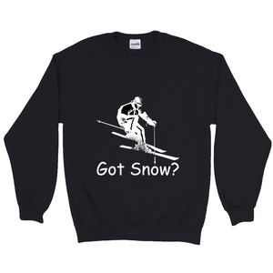 Got Snow? Downhill Skiing! Novelty Sweatshirts Crewneck Pullover - CampWildRide.com