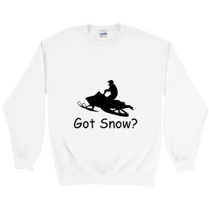 Got Snow? Escape on a Snowmobile! Novelty Sweatshirts Crewneck Pullover - CampWildRide.com