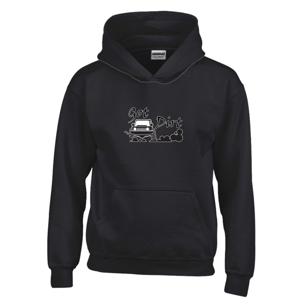 Got Dirt? Fun with your 4x4! Novelty Youth Hoodies (No-Zip/Pullover)