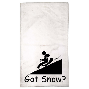 Got Snow? Let it Slide! Novelty Funny Hand Towel - CampWildRide.com