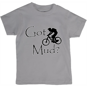 Got Mud? Fun on a Mountain Bike! Novelty Short Sleeve Youth T-Shirt - CampWildRide.com