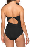 Classique Pleated Bandeau One Piece