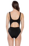 Black Magic Wrap One Piece