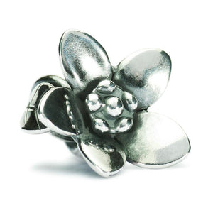 Trollbeads The Messenger silver bead of a flower