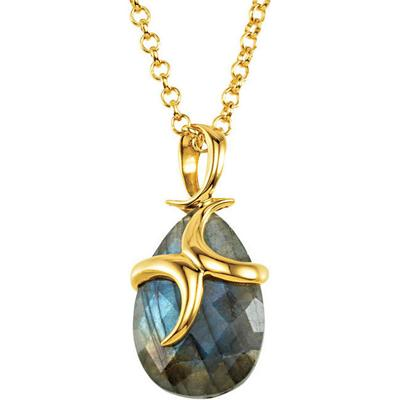 Missoma Labradorite Necklace in 18ct Vermeil