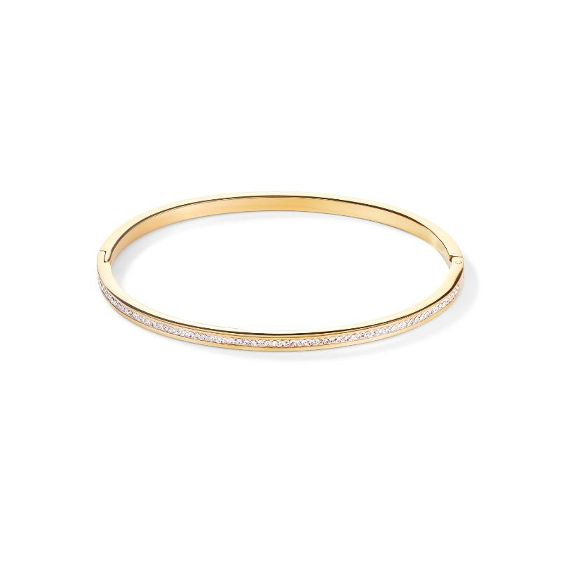 Coeur de Lion Gold Bangle with Crystals Jewellery Coeur de Lion Standard