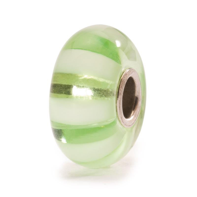 Trollbeads Light Green Stripe