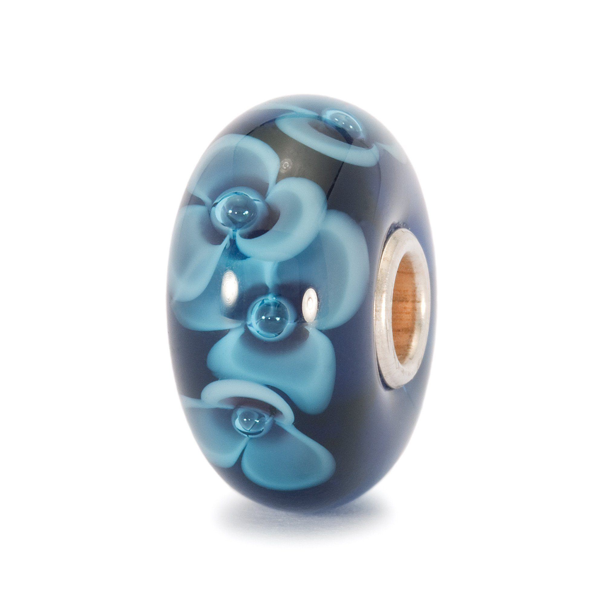 Trollbeads Midnight Flower Glass Bead Trollbeads Trollbeads