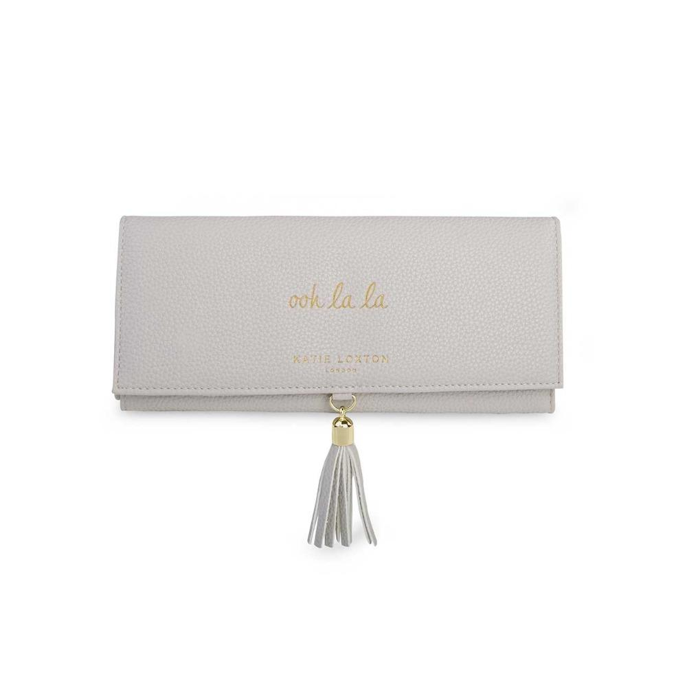 Katie Loxton Jewellery Roll with Tassel in Grey Gifts Katie Loxton