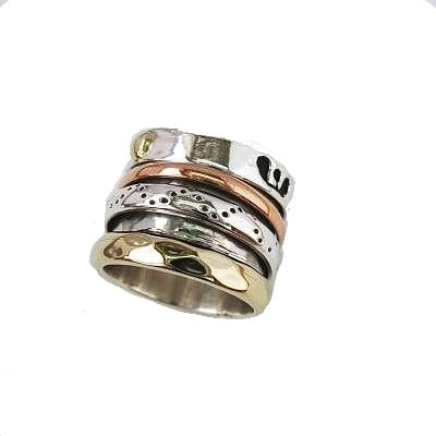 Silver Brass Copper Wide N Rings Carathea